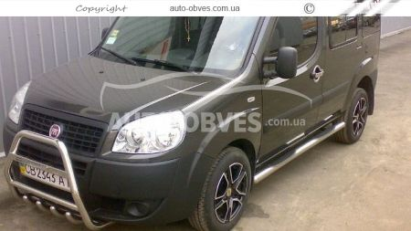 Front bar with a logo for Fiat Doblo I and II 2001 - 2012 photo 1