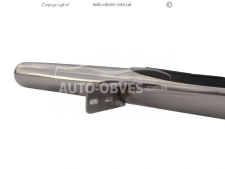 Pipe side steps for Toyota Hilux 2015-… фото 4