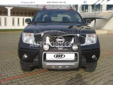 Front bar on a polyurethane basis of Nissan Navara 2005-2014 high photo 7