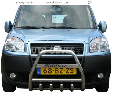 Front bar with a logo for Fiat Doblo I and II 2001 - 2012 photo 0