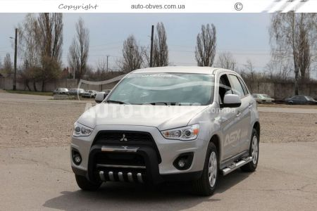 Front bar boat on Mitsubishi ASX 2013 - 2016 on a polyurethane basis photo 4