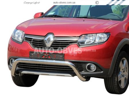 Bumper protection for Sandero Stepway U-shaped photo 0