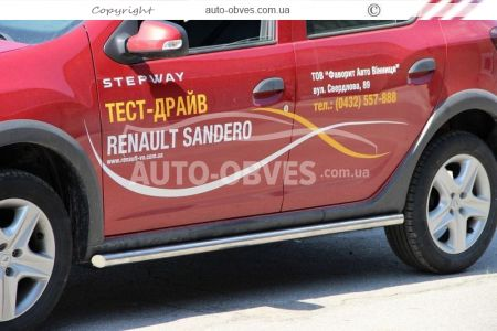 Side sill protection for Sandero Stepway 2013-…, Ø 42 | 51 | 60 mm photo 3