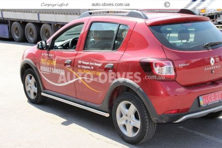 Side sill protection for Sandero Stepway 2013-…, Ø 42 | 51 | 60 mm photo 1