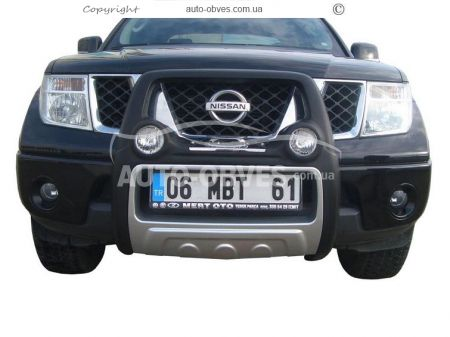 Front bar on a polyurethane basis of Nissan Navara 2005-2014 high photo 0