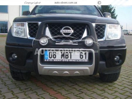 Front bar on a polyurethane basis of Nissan Navara 2005-2014 high photo 2