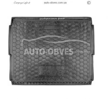 Trunk mat Kia Cerato 2013-2018 sedan MID, TOP polyurethane photo 0