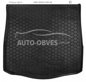 Trunk mat Ford Mondeo sedan 2008-2014 full-size spare polyurethane photo 0