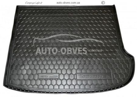 Trunk mat Hyundai Santa Fe CM 2010-2012 7 seats polyurethane photo 0