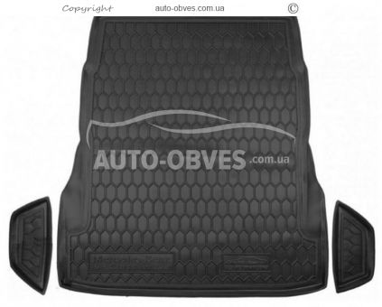 Trunk mat Mercedes W 222 without seat adjustment polyurethane photo 0