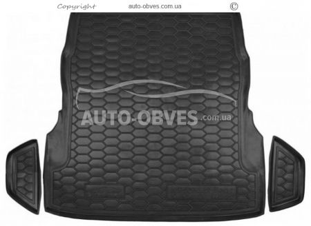 Trunk mat Mercedes W 222 with seat adjustment polyurethane photo 0