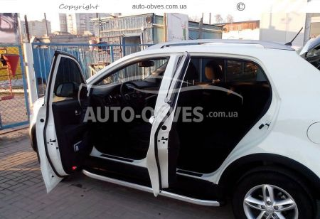 Side treads for SsangYong Korando 2014-… RangeRover Sport style photo 1