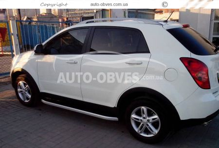 Side treads for SsangYong Korando 2014-… RangeRover Sport style photo 2