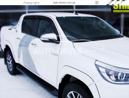 Side window deflectors for Toyota Hilux 2015 -... photo 1