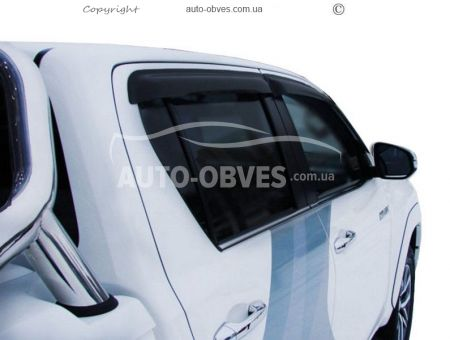 Side window deflectors for Toyota Hilux 2015 -... photo 0