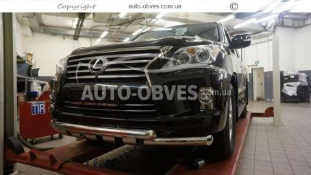 Front bar for Lexus LX570 double mustache with grill photo 1