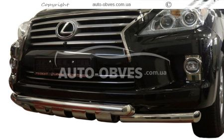 Front bar for Lexus LX570 double mustache with grill photo 0