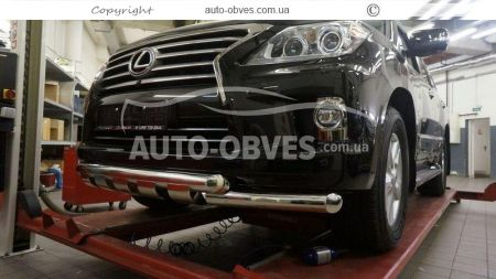 Front bar for Lexus LX570 double mustache with grill photo 2