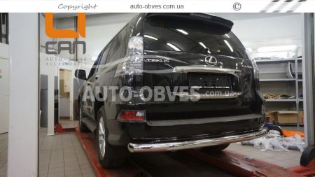 Rear bumper protection Lexus GX460 2013 - ..., straight pipe photo 1