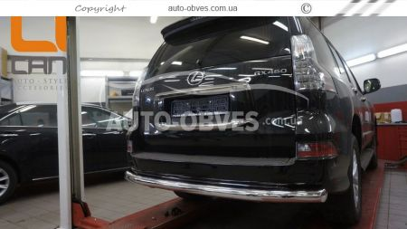 Rear bumper protection Lexus GX460 2013 - ..., straight pipe photo 2