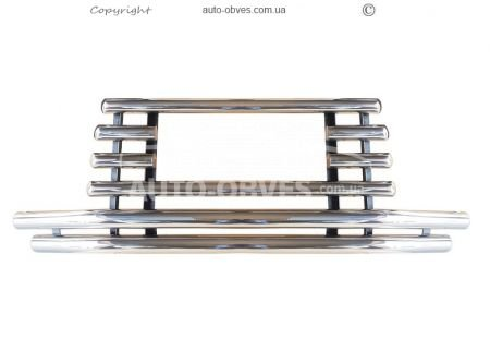 "Front bar ""Griffon"" for Mitsubishi Pajero Wagon IV with additional mustache photo 0"