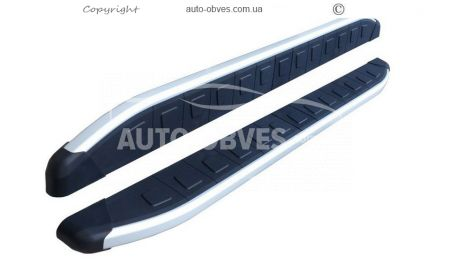 Side treads for SsangYong Korando 2014-… RangeRover Sport style photo 0