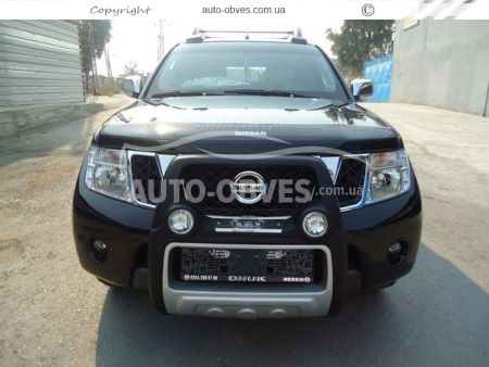 Front bar on a polyurethane basis of Nissan Navara 2005-2014 high photo 3