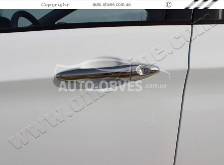 Overlays for door handles Hyundai Accent turnkey stainless steel photo 3