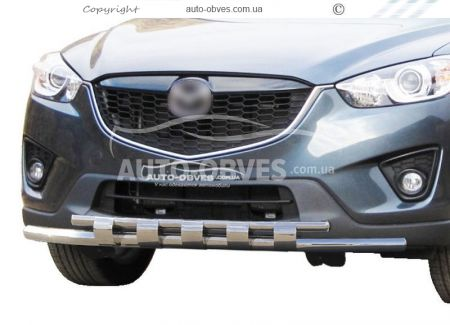 Bumper protection for Mazda CX5 2011-2017. Exclusive photo 0