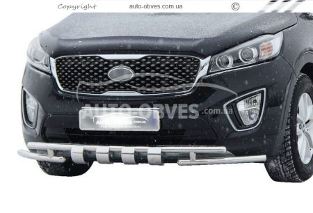 Protection of the lower bumper Staff Kia Sorento Prime 2015 -... 42 * 42mm photo 0