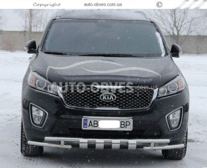 Protection of the lower bumper Staff Kia Sorento Prime 2015 -... 42 * 42mm photo 1