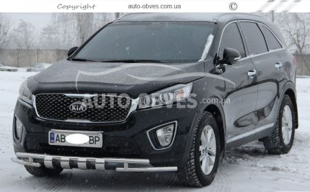 Protection of the lower bumper Staff Kia Sorento Prime 2015 -... 42 * 42mm photo 2