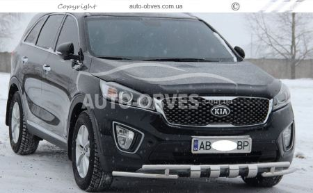 Protection of the lower bumper Staff Kia Sorento Prime 2015 -... 42 * 42mm photo 3