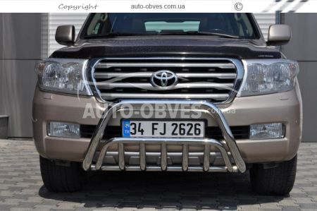 Front bar reinforced Toyota Land Cruiser 200 2007 - 2016 photo 3