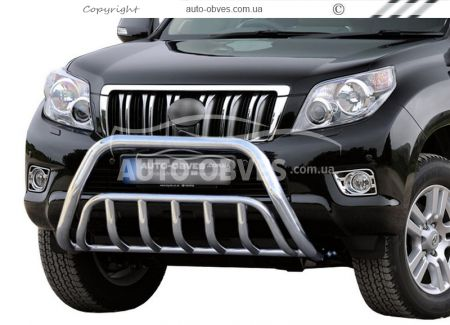 Front bar double double reinforced for Toyota Land Cruiser Prado 2009-2013 photo 0