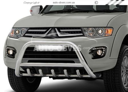 Front bar for Mitsubishi L200 2006-2014 low (pr. WT) photo 0