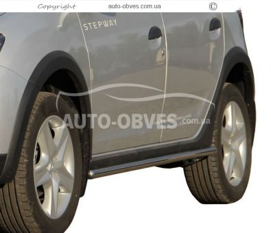 Side sill protection for Sandero Stepway 2013-…, Ø 42 | 51 | 60 mm photo 0