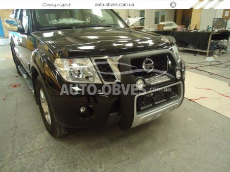 Front bar on a polyurethane basis of Nissan Navara 2005-2014 high photo 1